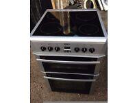 £125.00 Beko sls/Black ceramic electric cooker+60cm+3 months warranty for £125.00