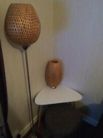 Ikea standard lamp and table lamp