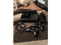 Xbox 360 250gb, with Kinect and 2 controllers