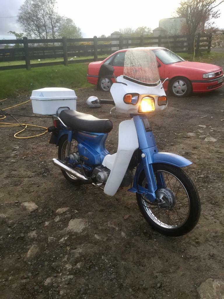honda 90 cub 50 moped step through in maghera county. Black Bedroom Furniture Sets. Home Design Ideas