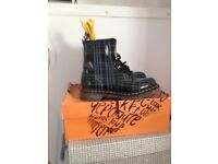 Brand new woman's Dr martens boots tartan size 5 for sale £45 ono