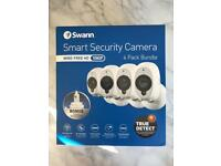 BRAND NEW Swann Smart Security Camera 4 Pack Bundle - Wire Free & 1080p