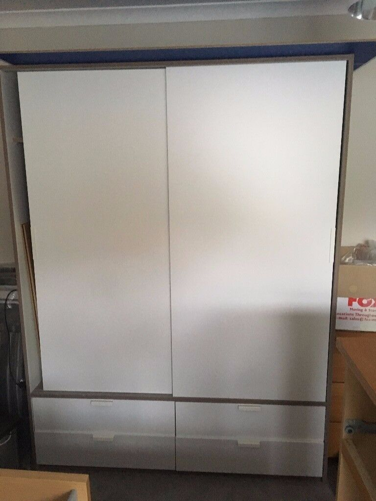 Ikea TRYSIL Wardrobe with sliding doors and 4 drawers