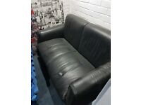 Free black 2 seater leatherette sofa