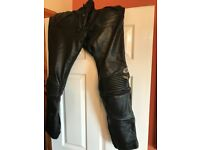 Mens leather bike trousers