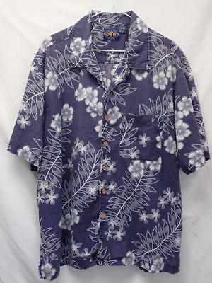 OTB ONLY THE BEST ON THE BRINK sz XL BLUE HAWAIIAN BUTTON FRONT SHIRT