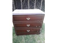 Desk & chest of drawers suitable for upcycling project