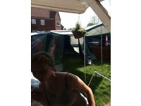 Canvas tent.Inner tents included all poles are colour coded, good condition may need waterproofing.