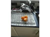 Chrome metal fruit basket