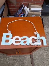 Beach wall hanging words ornament decoration room.