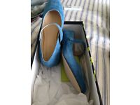 Blue suede shoes size 6. Unworn from Jones Bootmakers. (Bought wrong size). .
