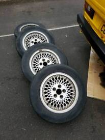 """15"""" alloy wheel rims with tyres"""