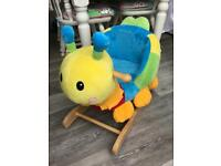 BABY WOODEN CATERPILLAR ROCKER