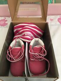 Baby Girl timberland booties size 0.