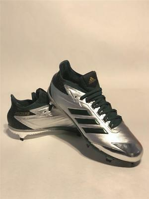 46d247a1f2ad Adidas Afterburner 4.0 4 LE Fade Metal Baseball Cleats 11 Metallic Silver  Green
