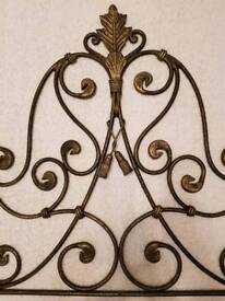 Bronze Wrought Iron Double Bed