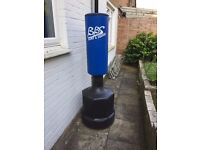 Punch bag on stand , adjustable hight for free