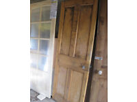 Old pine panelled door