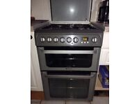 Hotpoint duel fuel cooker, 15 months old