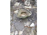 Old stone birdbath