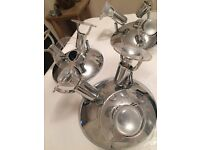 3 x STAINLESS STEEL CEILING LIGHTS ALL MATCHING COST £40 EACH BRAND NEW