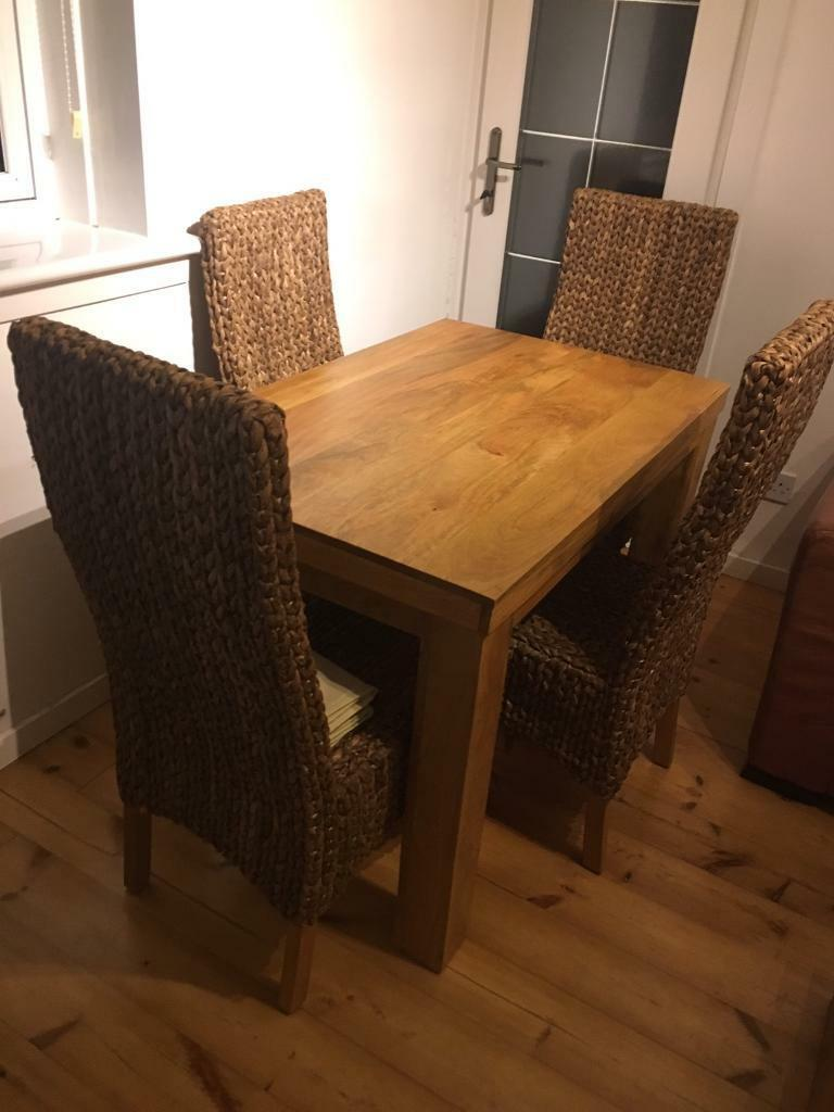 Mantis Natural Solid Mango Wood Table And Chairs Sold