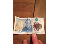 ak47 five pound note