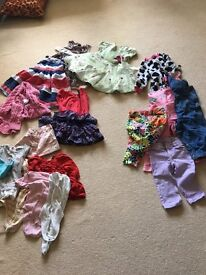 Bundle of girls clothes 12-18 months old