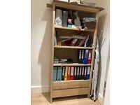 Solid washed Oak Bookshelf