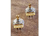 CTS 500K Potentiometers with Split Brass shafts, x 2