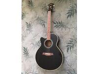 Ibanez Left Handed Electro Acoustic Guitar AEL10L-BK