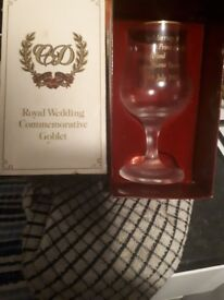 Prince charles lady diana wedding goblet