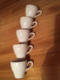 5 espresso cups and 8 mugs