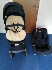 Stroller & baby seat in really good condition, all accessories included