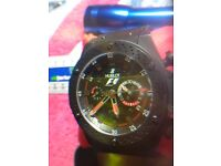 Hublot f1nice chunky heavy watch all black automatic see through back stunning timepiece like new