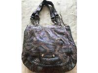 Jimmy Choo Snakeskin Handbag in Shimmery Grey