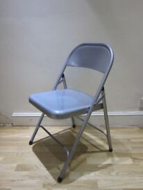 Habitat Macadam Metal Folding Chair - Grey (Used condition-pickup)