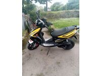 TGB R50, 2014 moped, in good condition, mot expires 25 May 2019