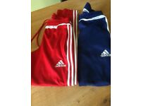 Two pairs men's xs addidas joggers