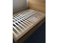 IKEA King Size High Bed Frame With 4 Storage Boxes