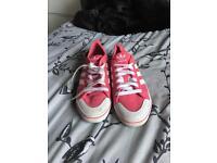 Ladies size 5 Adidas Pink!