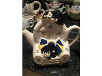 Judith Wooton Feline Collection Tea Pot