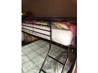Metal double bunk bed frame