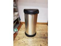 Curver stainless steel bin - £5