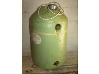 Copper hot water cylinder
