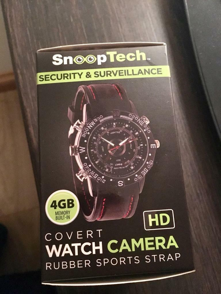 Brand new boxed Snooptech watch with camera