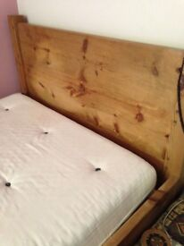 Rustic Chunky Mid Oak double bed handmade very solid