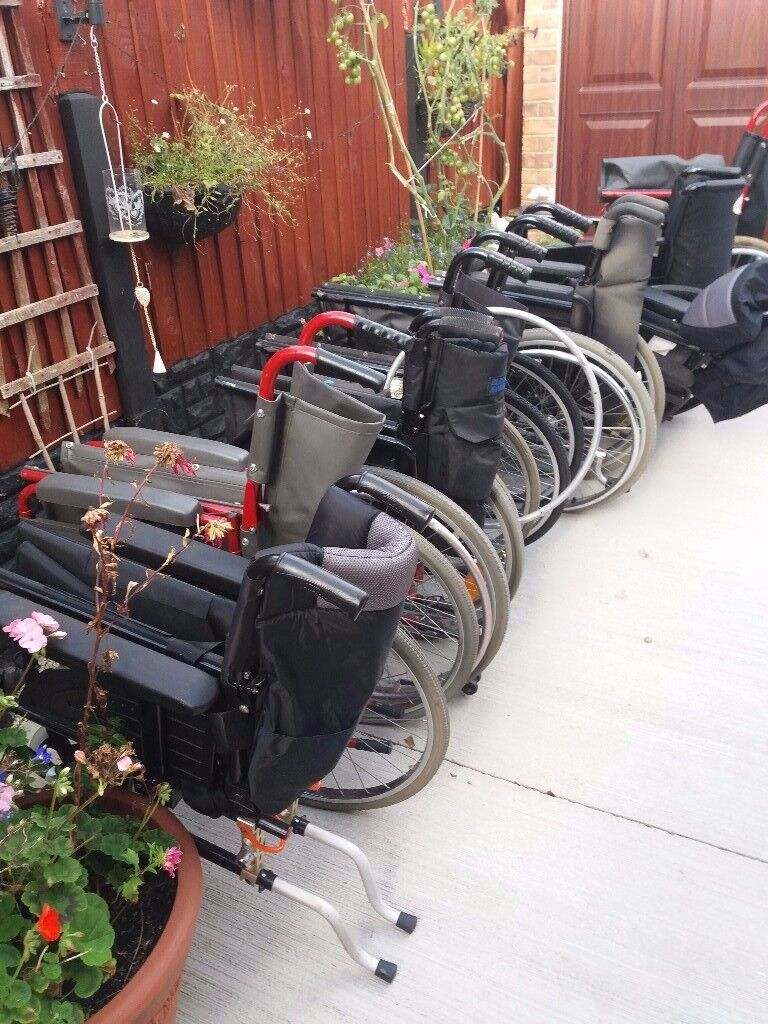 JOB LOT OF 8 WHEELCHAIRS SPARES OR REPAIRS