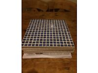 Blue mosaic style tiles approx 310mm x 310mm ( 7 tiles )