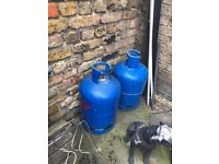 Empty 15KG butane Gas canisters